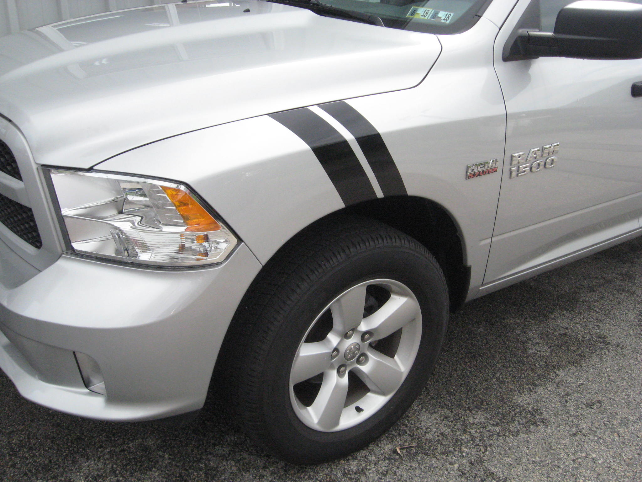 DODGE RAM FENDER STRIPE BLACK