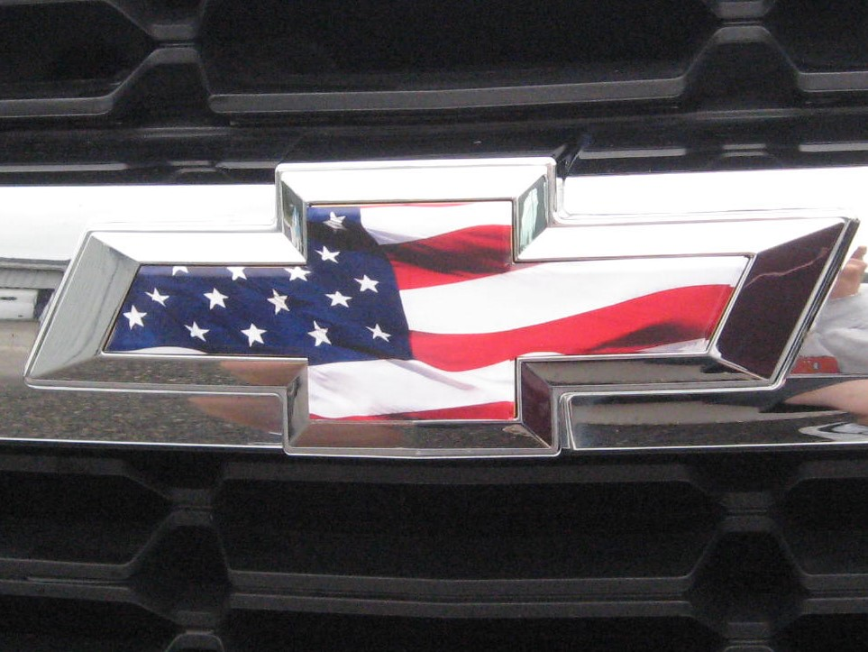 Chevy Silverado Colorado Grille Tailgate American Flag Vinyl Overlay Emblem  Sheets-Model Years 2014 thru 2018