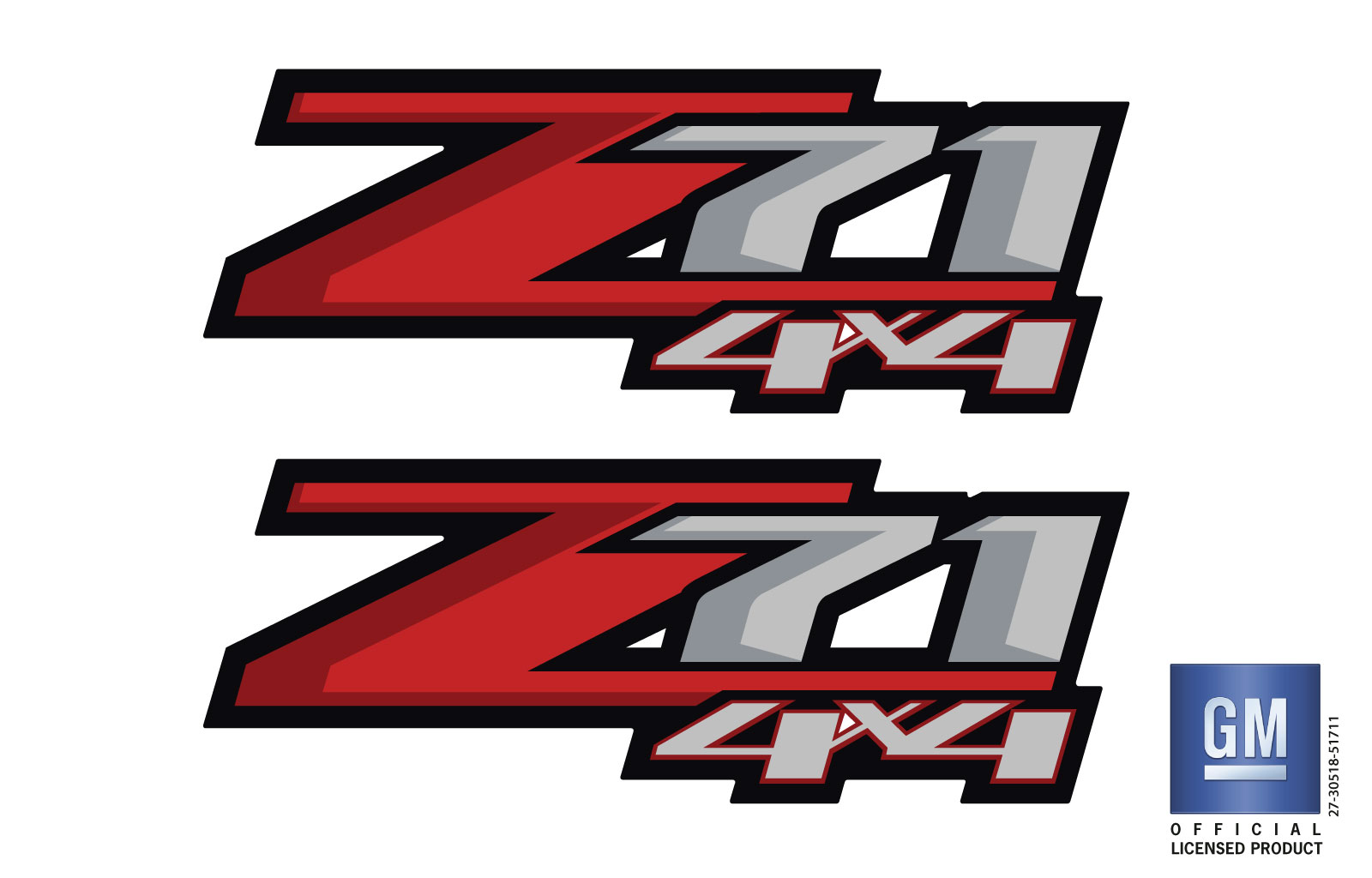 Chevy Silverado Z71 4X4 Bed Side Decal GM LICENSED PRODUCT - Emblems Plus