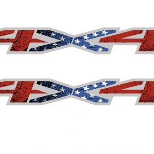 american flag 4x4 bedside decal