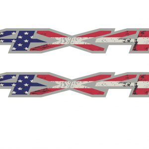 4x4 flag bedside decal