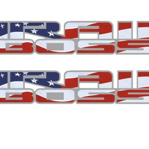 American flag bedside Trail boss decal