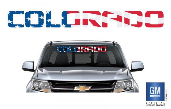 Flag windshield banner