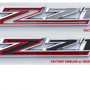 z71 fender emblem insert lettering