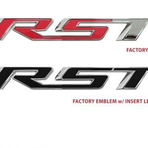 Tailgate emblem lettering insert