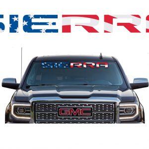 GMC Sierra Windshield Banner